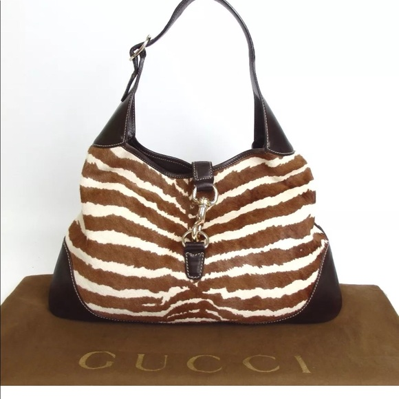 ac40991ed28 Gucci Handbags - Authentic GUCCI Pony Hair Jackie O Bouvier Hobo